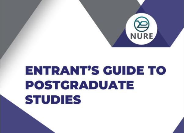 ENTRANT'S GUIDE TO POSTGRADUATE STUDIES